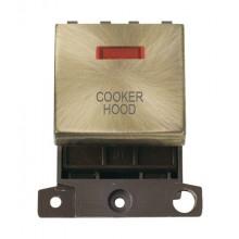 Click MiniGrid MD023ABCH Ant/Brass DP Cooker Hood Module Neon