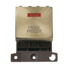 Click MiniGrid MD023ABFF Ant/Brass DP Fridge Freezer Mod + Neon