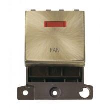 Click MiniGrid MD023ABFN Antique Brass DP Fan Module + Neon