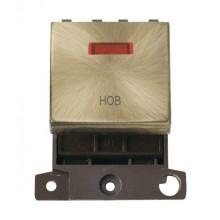 Click MiniGrid MD023ABHB Antique Brass DP Hob Module + Neon