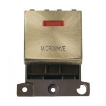 Click MiniGrid MD023ABMW Antique Brass DP Microwave Mod + Neon