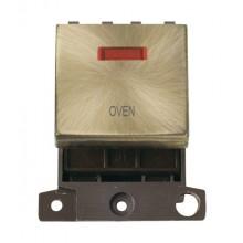 Click MiniGrid MD023ABOV Antique Brass DP Oven Module + Neon