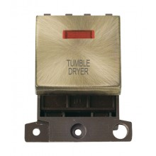 Click MiniGrid MD023ABTD Ant/Brass DP Tumble Dryer Module + Neon