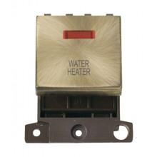 Click MiniGrid MD023ABWH Ant/Brass DP Water Heater Module Neon
