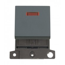 Click MiniGrid MD023BK Black 20A DP Switch Module with Neon