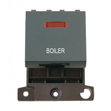 Click MiniGrid MD023BKBL Black 20A DP Boiler Module + Neon