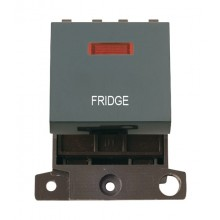 Click MiniGrid MD023BKFD Black 20A DP Fridge Module + Neon