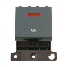 Click MiniGrid MD023BKFN Black 20A DP Fan Module + Neon