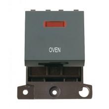 Click MiniGrid MD023BKOV Black 20A DP Oven Module + Neon