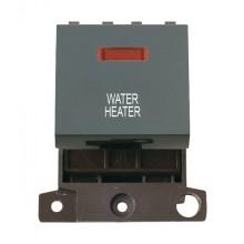 Click MiniGrid MD023BKWH Black 20A DP Water Heater Module + Neon