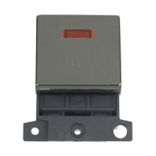 Click MiniGrid MD023BN Black Nickel 20A DP Switch Module + Neon