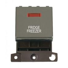 Click MiniGrid MD023BNFF B/Nickel DP Fridge Freezer Module Neon