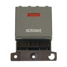 Click MiniGrid MD023BNWW Black Nickel DP Microwave Module + Neon