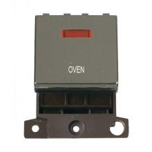Click MiniGrid MD023BNOV Black Nickel DP Oven Module + Neon
