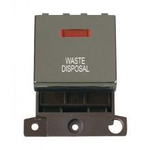 Click MiniGrid MD023BNWD Black Nickel DP Waste Disposal Mod Neon
