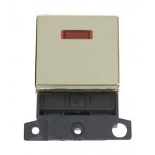 Click MiniGrid MD023BR Polished Brass 20A DP Switch Mod + Neon