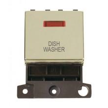 Click MiniGrid MD023BRDW Pol/Brass DP Dishwasher Module Neon
