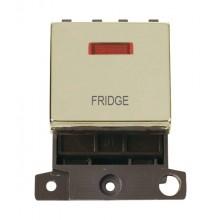 Click MiniGrid MD023BRFD Polished Brass DP Fridge Module + Neon