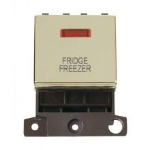 Click MiniGrid MD023BRFF Pol/Brass DP Fridge Freezer Module Neon