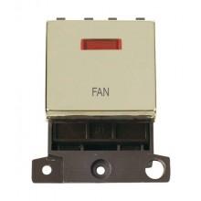 Click MiniGrid MD023BRFN Polished Brass DP Fan Module + Neon