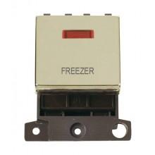 Click MiniGrid MD023BRFZ Polished Brass DP Freezer Module + Neon