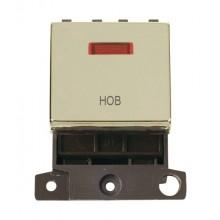 Click MiniGrid MD023BRHB Polished Brass DP Hob Module + Neon