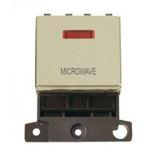Click MiniGrid MD023BRMW Pol/Brass DP Microwave Module Neon