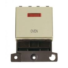 Click MiniGrid MD023BROV Polished Brass DP Oven Module + Neon