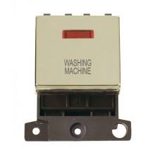 Click MiniGrid MD023BRWM Pol/Brass DP Washing Machine Mod Neon