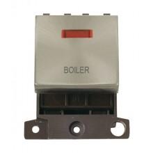 Click MiniGrid MD023BSBL Brushed Steel DP Boiler Module + Neon