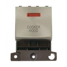 Click MiniGrid MD023BSCH B/Steel DP Cooker Hood Module + Neon