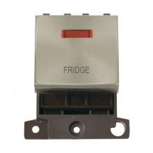 Click MiniGrid MD023BSFD Brushed Steel DP Fridge Module + Neon
