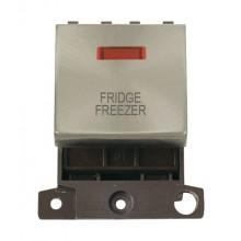 Click MiniGrid MD023BSFF B/Steel DP Fridge Freezer Module + Neon
