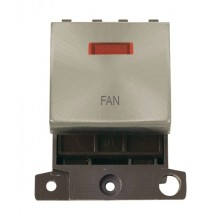 Click MiniGrid MD023BSFN Brushed Steel DP Fan Module + Neon