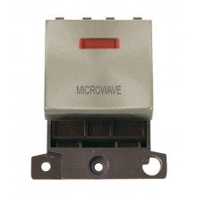 Click MiniGrid MD023BSMW B/Steel DP Microwave Module + Neon