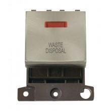 Click MiniGrid MD023BSWD B/Steel DP Waste Disposal Module + Neon