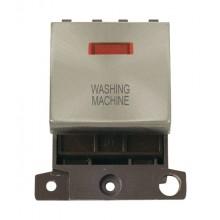 Click MiniGrid MD023BSWM B/Steel DP Washing Machine Module Neon