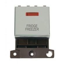 Click MiniGrid MD023CHFF Pol/Chrome DP Fridge Freezer Mod + Neon