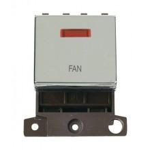 Click MiniGrid MD023CHFN Polished Chrome DP Fan Module + Neon