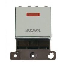 Click MiniGrid MD023CHMW Polished Chrome DP Microwave Mod + Neon