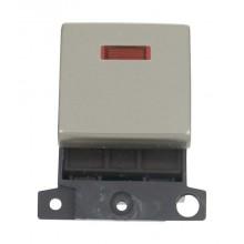 Click MiniGrid MD023PN Pearl Nickel 20A DP Switch Module + Neon