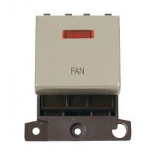 Click MiniGrid MD023PNFN Pearl Nickel DP Fan Module + Neon