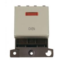 Click MiniGrid MD023PNOV Pearl Nickel DP Oven Module + Neon