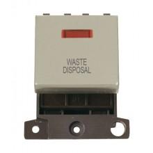 Click MiniGrid MD023PNWD P/Nickel DP Waste Disposal Module Neon