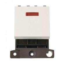 Click MiniGrid MD023PW Polar White 20A DP Switch Module + Neon