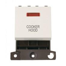 Click MiniGrid MD023PWCH Polar White 20A DP Cooker Hood Mod Neon