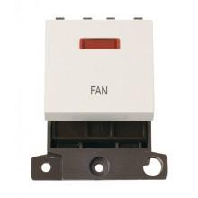 Click MiniGrid MD023PWFN Polar White 20A DP Fan Module + Neon