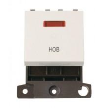Click MiniGrid MD023PWHB Polar White 20A DP Hob Module + Neon