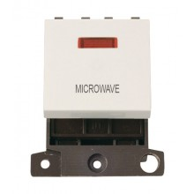 Click MiniGrid MD023PWMW Polar White 20A DP Microwave Mod Neon