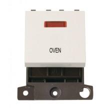 Click MiniGrid MD023PWOV Polar White 20A DP Oven Module + Neon
